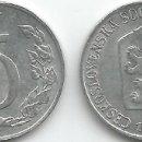 Monedas antiguas de Europa: CHECOSLOVAQUÍA - 5 HALERU 1962 - ALUMINIO - MBC - CAT. SCHOEN Nº: 55 - MIRE MIS OTROS LOTES. Lote 164839402