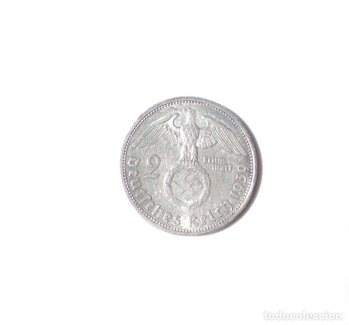 ALEMANIA.- 2 MARCOS 1939. III REICH - PLATA - CRUZ GAMADA - ESVASTICA (Numismática - Extranjeras - Europa)