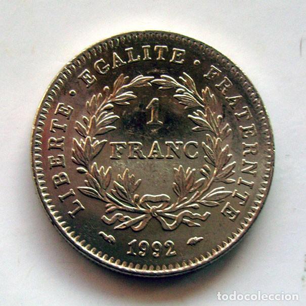 Monedas antiguas de Europa: MONEDAS DEL MUNDO . FRANCIA . 1 FRANC 1992 . SIN CIRCULAR - Foto 2 - 165070714