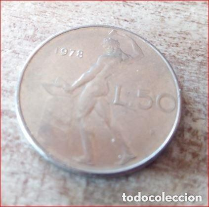 Monedas antiguas de Europa: Italia 50 Liras 1978 - Foto 2 - 165111242