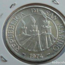 Monedas antiguas de Europa: MONEDA D PLATA 500 LIRAS DE SAN MARINO 1974, 2 PALOMAS EN NIDO, PESA 11 GRS, SOLO 276.000. Lote 165393994