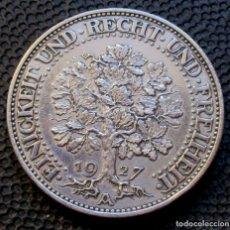Monedas antiguas de Europa: ALEMANIA - REPÚBLICA DE WEIMAR 5 REICHSMARK 1927-A (BERLIN) TIPO ROBLE -ESCASA- -PLATA-. Lote 165492674
