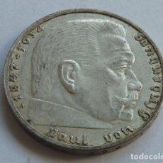Monedas antiguas de Europa: MONEDA DE PLATA 2 MARCOS 1939 CECA A DE BERLIN ALEMANIA NAZI, MARISCAL PAUL VON HINDENBURG. Lote 165679146