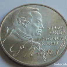 Monedas antiguas de Europa: MONEDA D PLATA D 5 MARCOS D ALEMANIA DE 1974 D CECA MUNICH, PESA 11,2 GRS IMMANUEL KANT. Lote 165679842