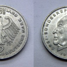 Monedas antiguas de Europa: MONEDA DE REPUBLICA ALEMANA 2 MARCOS 1949 1969 J. Lote 165701050