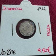 Monedas antiguas de Europa: DINAMARCA. 10 ORE DE PLATA DE 1912. Lote 165743718