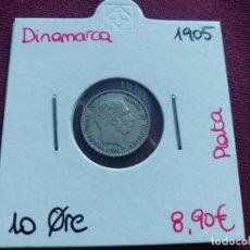 Monedas antiguas de Europa: DINAMARCA. 10 ORE DE PLATA DE 1905. Lote 165787854