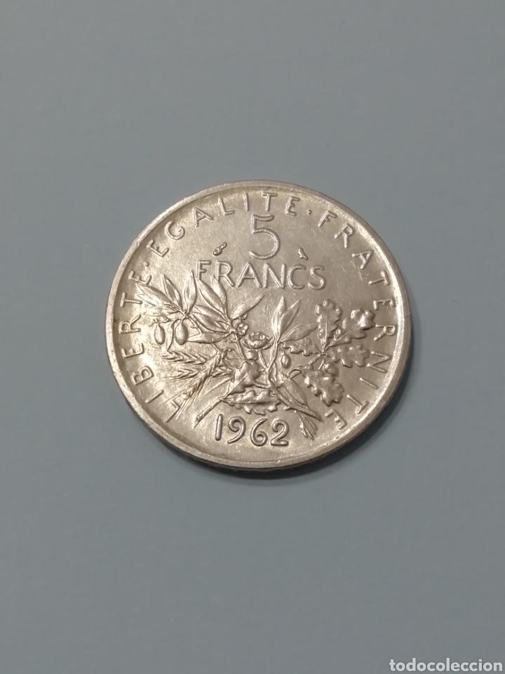 MONEDA FRANCIA 5 FRANCOS PLATA.. AÑO 1962... (Numismática - Extranjeras - Europa)