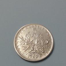 Monedas antiguas de Europa: MONEDA FRANCIA 5 FRANCOS PLATA.. AÑO 1962.... Lote 165836004