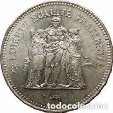 Monedas antiguas de Europa: 50 FRANCOS FRANCESES DE PLATA (HÉRCULES) 1977. Lote 165874694