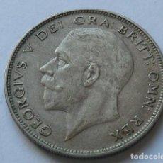Monedas antiguas de Europa: MONEDA DE PLATA DE 1/2 CORONA DE 1928 DE JORGE V DE INGLATERRA, PESA 14,2 GRAMOS. Lote 166155194