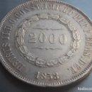 Monedas antiguas de Europa: 2000 REIS PEDRO II 1858- PLATA -SILVER. Lote 166390542