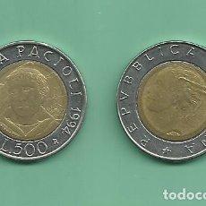 Monedas antiguas de Europa: ITALIA. 500 LIRES 1994. LUCA PACIOLI. BIMETÁLICA. Lote 178728222