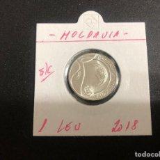 Monedas antiguas de Europa: MOLDAVIA(MOLDOVA) 1 LEU 2018 S/C. Lote 244865675