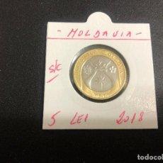 Monedas antiguas de Europa: MOLDAVIA(MOLDOVA) 5 LEI 2018 S/C. Lote 194624376