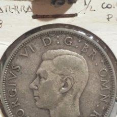 Monedas antiguas de Europa: GRAN BRETAÑA 1/2 CORONA PLATA 1938. Lote 167109368