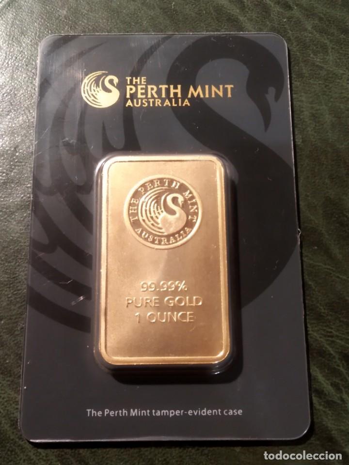 1 ONZA DE ORO PERTH MINT EN LINGOTE - FINE GOLD 999,9 - CERTIFICADO - SALIDA 1€!!! (Numismática - Extranjeras - Europa)