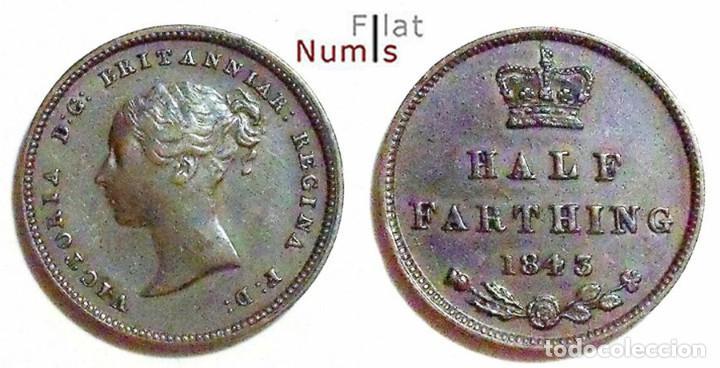 GRAN BRETAÑA - 1/2 FARTHING - 1843 - VICTORIA - COBRE (Numismática - Extranjeras - Europa)