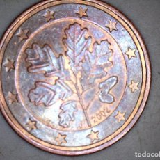 Monedas antiguas de Europa: 5 CENTIMOS CENT EURO ALEMANÍA 2002 CECA J CIRCULADA - MONEDAS USADAS. Lote 167568648