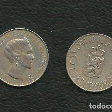 Monedas antiguas de Europa: LUXEMBURGO: 5 FRANCS 1962. CUPRONIQUEL. Lote 179045056