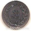 Monedas antiguas de Europa: TURQUIA,50 KURUS 1972.. Lote 168115008