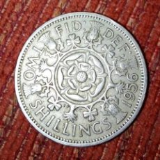 Monedas antiguas de Europa: MONEDA TWO SHILLING 1956 ELIZABETH II. Lote 168230576
