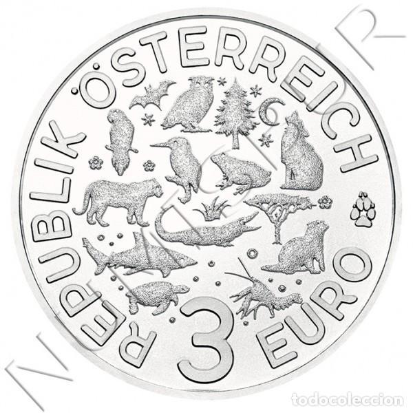 Monedas antiguas de Europa: AUSTRIA 3 euro 2019 NUTRIA - Serie Criaturas FISCHOTTER Lutra Lutra - Foto 3 - 168248232