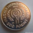 Monedas antiguas de Europa: HUNGRIA . 200 FORINT DE PLATA ANTIGUOS . 28,00 GRAMOS. Lote 168253976