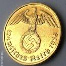 Monedas antiguas de Europa: MONEDA ALEMANIA NAZI 2 REICHSPFENNIG 1938 F 24 K ACUN~ADO ORIGINAL HGE ORO PURO. Lote 168256676