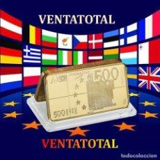 Monedas antiguas de Europa - EDICION LIMITADA LINGOTE 500 € ORO DE 24 KILATES 42 GRAMOS ( LOS EUROS DE EUROPA ) Nº3 - 168305052