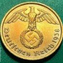 Monedas antiguas de Europa: MONEDA NAZI LATON 10 REICHSPFENNIG 1938 A. Lote 168306452