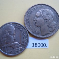 Monedas antiguas de Europa: LOTE 2 MONEDAS FRANCIA 50, 100 FRANCOS. Lote 168517408