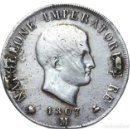 Monedas antiguas de Europa: ITALIA - NAPOLEÓN BONAPARTE IMPERATOR - 5 LIRAS 1807 M - PLATA RRR 100% ORGINAL RARO CONDICION. Lote 168524100