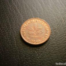 Monedas antiguas de Europa: ALEMANIA ( REP. FEDERAL ) 1 PFENNIG 1950 J. Lote 168625536
