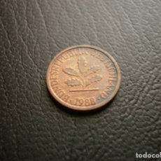 Monedas antiguas de Europa: ALEMANIA ( REP. FEDERAL ) 1 PFENNIG 1988 J. Lote 168629528