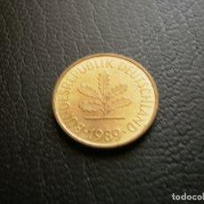 Monedas antiguas de Europa: ALEMANIA ( REP. FEDERAL ) 5 PFENNIG 1989 J. Lote 168749836