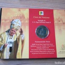 Monedas antiguas de Europa: BONITA MONEDA CONMEMORATIVA AL 85 CUMPLEAÑOS DEL PAPA JUAN PABLO II POCO DESPUES DE SU MUERTE. Lote 168782040