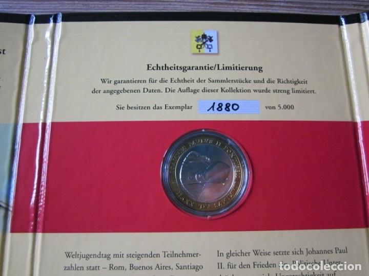 Monedas antiguas de Europa: BONITA MONEDA CONMEMORATIVA AL 85 CUMPLEAÑOS DEL PAPA JUAN PABLO II POCO DESPUES DE SU MUERTE - Foto 4 - 168782040
