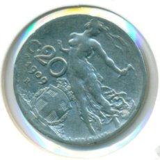 Monedas antiguas de Europa: ITALIA 20 CENTESIMI CÉNTIMOS 1909 ( BC+ ) KM # 44. Lote 168875936