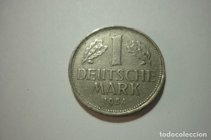 Monedas antiguas de Europa: BUNDESREPUBLIK DEUTSCHLAND. 1 MARK 1954 - Foto 2 - 168941748