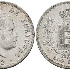 Moedas antigas da Europa: *** MUY BONITOS 500 REIS 1892 DE PORTUGAL. KM#535 PLATA ***. Lote 169329128