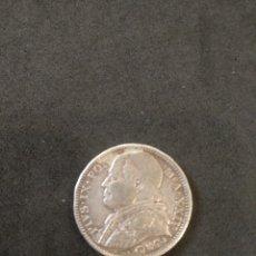 Monedas antiguas de Europa: 2 LIRAS DE PLATA 1869. Lote 169683857