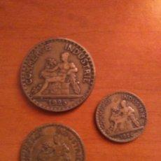 Monedas antiguas de Europa: 3 MONEDAS DE 2,1 Y 50 CENTIMOS , FRANCIA , CHAMBRES DE COMMERCE DE FRANCE ,COMERCE INDUSTRIE . Lote 169751704
