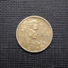 Monedas antiguas de Europa: YUGOSLAVIA 20 DINARA 1955 KM34. Lote 170560088
