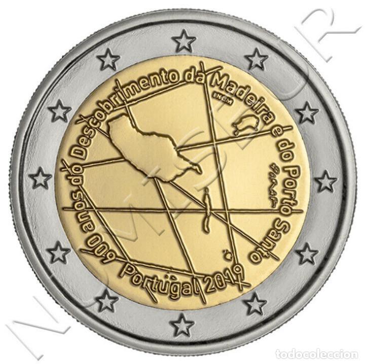 PORTUGAL 2 EURO 2019 S/C - 600 AÑOS DEL DESCUBRIMIENTO DE MADEIRA Y PORTO SANTO (Numismática - Extranjeras - Europa)