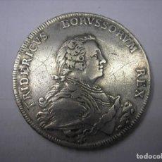Monedas antiguas de Europa: ALEMANIA , THALER DE PLATA DE 1750 A. REY FEDERICO BORUSSORUM. Lote 170869510