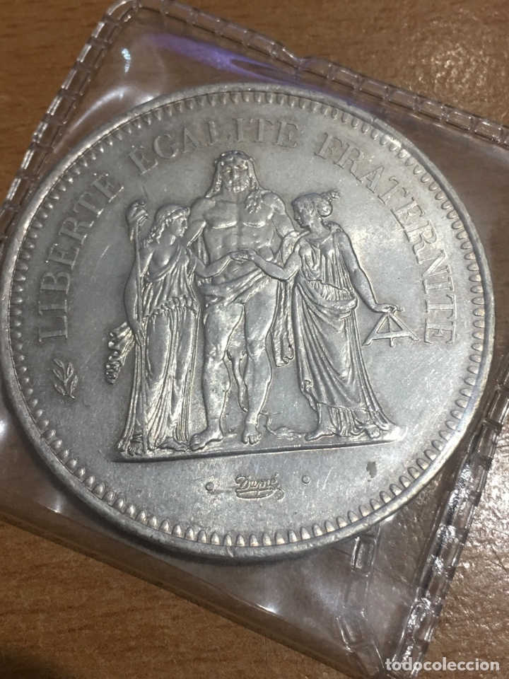 FRANCIA 50 FRANCOS PLATA 1977 31 GRAMOS (Numismática - Extranjeras - Europa)