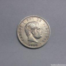 Monedas antiguas de Europa: MONEDA PLATA DE PORTUGAL 500 REIS CARLOS I. 1896. Lote 171044748