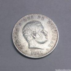 Monedas antiguas de Europa: MONEDA PLATA DE PORTUGAL 500 REIS CARLOS I 1891. Lote 171045152