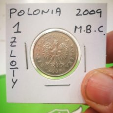 Monedas antiguas de Europa: MONEDA POLONIA 1 ZLOTY 2009 M.B.C.. Lote 171115690